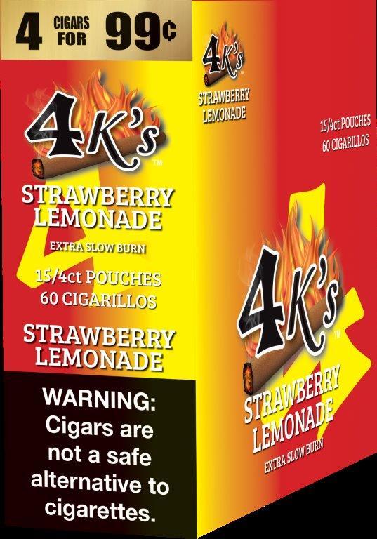 4K's Strawberry Lemon Cigarillos 4 For $0 99 60 Cigars