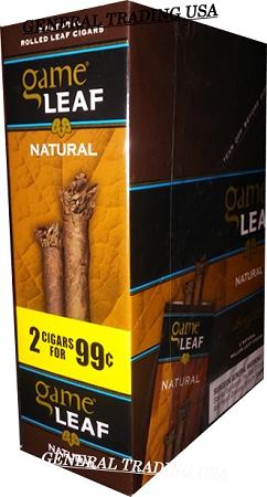 Game Leaf Natural Cigarillos 30 Cigars