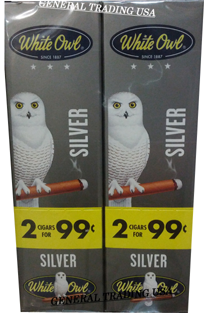 White Owl Cigarillos Silver 2 For 99 60