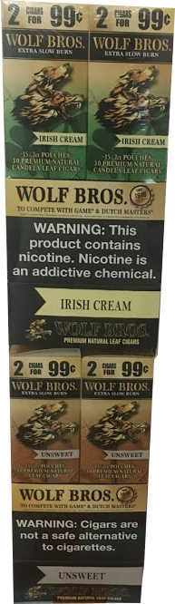 Wolf Brothers Un-Sweet - Irish Cream Natural Leaf Wrapper ...