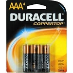 Duracell Batteries AAA 4 Pack