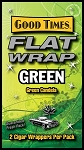 FLAT WRAP GREEN 25-2'S 50 WRAPS