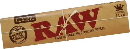 RAW Classic x 10 King Size Slim Natural Rolling Papers /& 6 x Roach Booklet Tips!
