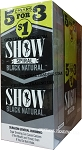 Show BLACK NATURAL Cigarillos 75 CT