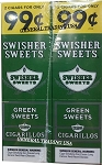 Swisher Sweets Cigarillos Green Sweet 2 for 99 60 Count