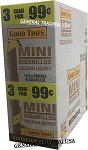 GOOD TIMES MINI CIGARILLOS  GOLDEN HONEY 3 FOR 99 - 45 CIGARS - EXTRA SLOW BURN