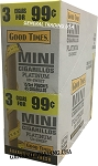 GOOD TIMES MINI CIGARILLOS PLATINUM UN-SWEET 3 FOR 99 - 45 CIGARS - EXTRA SLOW BURN