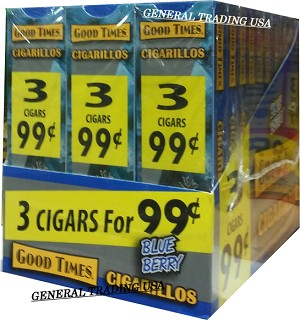 Good Times Blueberry 90 Cigarillos