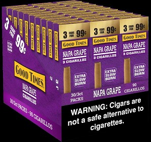 GOOD TIMES GRAPE CIGARILLOS 3 FOR 99