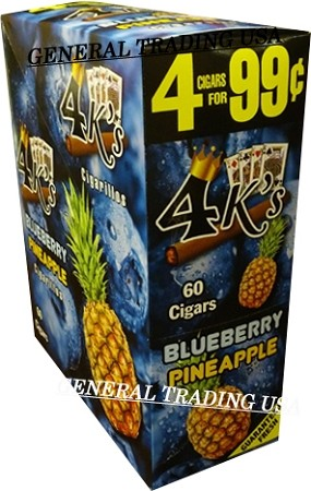4 K's Blueberry Pineapple Cigarillos 4 For 99
