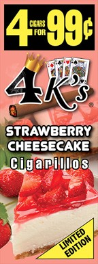 4 K's Strawberry Cheesecake Cigarillos 4 For 99