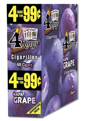 4 K's Napa Grape Cigarillos 4 For 99
