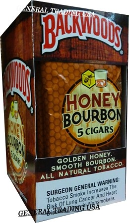 BACKWOODS HONEY BOURBON ALL NATURAL TOBACCO CIGAR 40 CIGARS