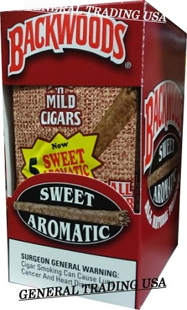 BACKWOODS SWEET AROMATIC ALL NATURAL TOBACCO CIGAR 30 COUNT
