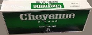 Cheyenne Menthol 100's Box Filtered Cigars