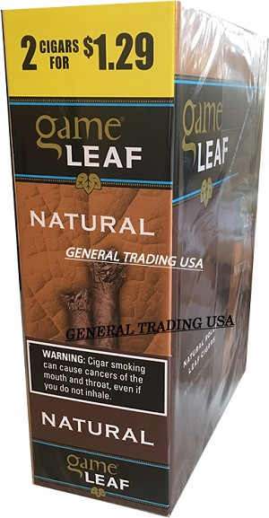 Game Leaf Natural Cigarillos 30 CIGARS