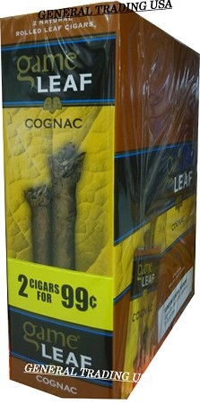 GAME LEAF COGNAC CIGARILLOS 2 FOR 99 - 30 CIGARS