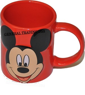 MUG MICKEY MOUSE RED DISH WASHER SAFE
