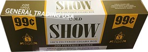 SHOW GOLD FILTERED CIGARS 200 CIGARS