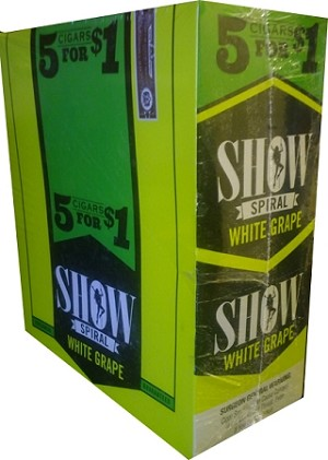 Show WHITE GRAPE Cigarillos 75 CT
