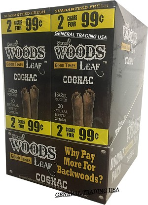 Sweet Woods Leaf Cognac Double Pack 30-2's 60 Cigars