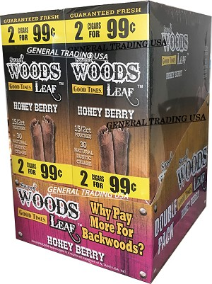 SWEET WOODS LEAF HONEY BERRY DOUBLE PACK 60 COUNT