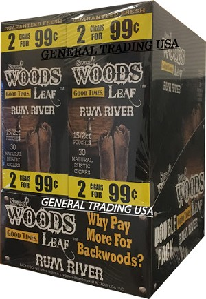 SWEET WOODS LEAF RUM RIVER 60 CIGARS
