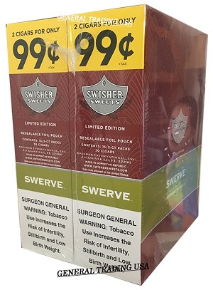 Swisher Swerve Cigarillos Regular 2 for 99
