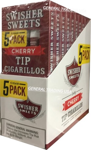 Swisher Sweets Tip Cherry Cigarillos 5 For 3 50 Cigars