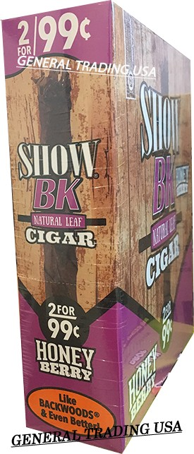 SHOW BK NATURAL LEAF HONEY BERRY CIGAR 30 CIGARS