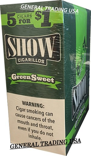 SHOW SPIRAL GREEN SWEET CIGARILLOS 75 CT