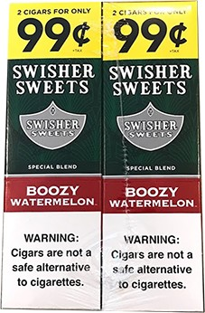 Swisher Sweets Boozy Watermelon Cigarillos 60 Cigars