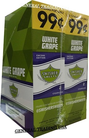 Swisher Sweets White Grape Cigarillos 60 Cigars