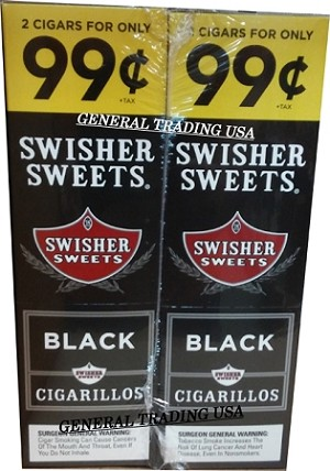 Swisher Sweets Black Cigarillos 60 Cigars