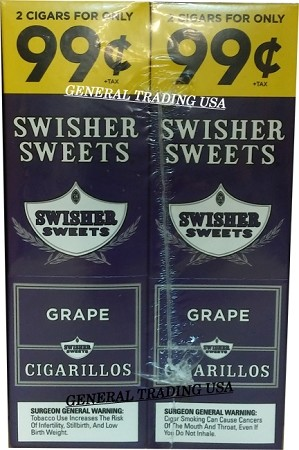 Swisher Sweets Cigarillos Grape 2 for 99 60 CT