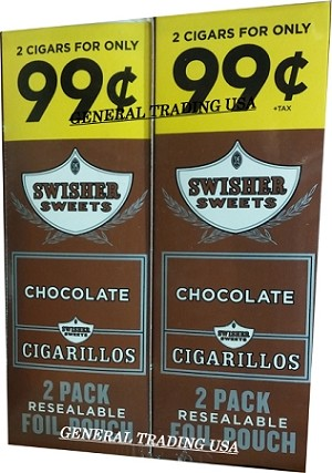 Swisher Sweets Chocolate Cigarillos 2 for 99 60 Count