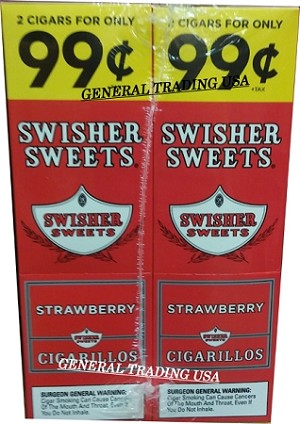 Swisher Sweets Cigarillos Strawberry 2 for 99 60 Count