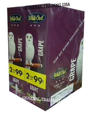 White Owl Cigarillos GRAPE 2 for 99 60 Count