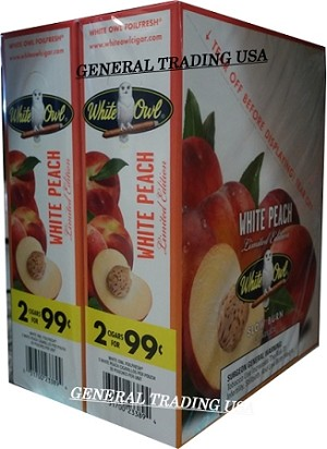White Owl Cigarillos WHITE PEACH 2 for 99 60 Count