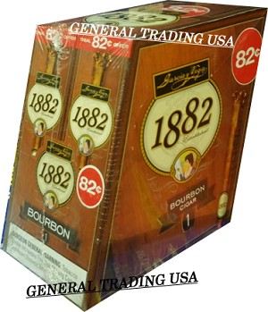 GARCIA Y VEGA 1882 BOURBON NATURAL LEAF CIGAR  82 CENTS 48 COUNT