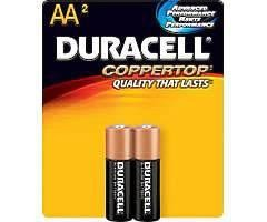 Duracell Batteries AA 2 Pack