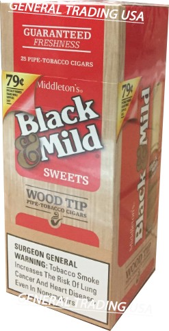 Black & Mild WT Sweet 25 CT
