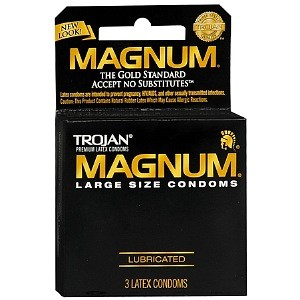 Trojan Magnum Lubricated Latex Condoms 3 ea