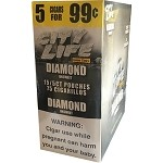 City Life DIAMOND UNSWEET Cigarillos 75 Count
