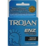 Trojan ENZ Lubricated Latex Condoms 3 ea