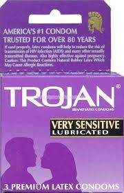 Trojan Very Sensitive Lubricated Latex Condoms 3 ea
