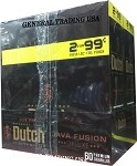 DUTCH MASTERS CIGARILLOS JAVA FUSION DELUXE NATURAL CONNECTICUT LEAF WRAPPER - CRAFTED TO BURN SLOW 60 PREMIUM CIGARS