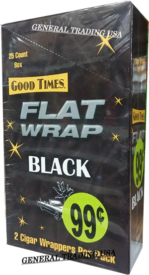 Good Times Flat Wrap BLACK SIGNATURE 25-2'S - 50 WRAPS