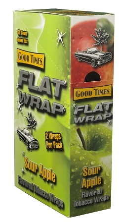 Flat Wrap Sour Apple 50 Wraps