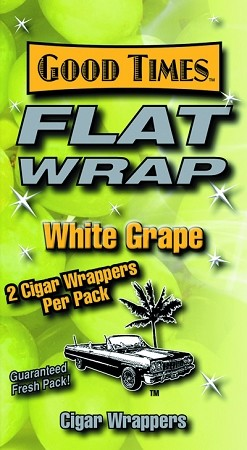 Flat Wrap White Grape 50 Wraps